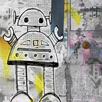 Girly Grunge Robot Fine Art Print