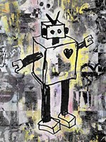 Robot Graffiti Color Fine Art Print