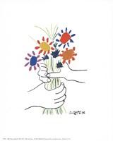 Main Aux Fleurs Framed Print