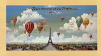 Ballooning Over Paris Framed Print