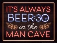 Neon Beer 30 Man Cave Fine Art Print