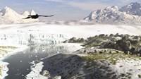 A Receding Glacial Scene Circa 18,000 Years Ago Fine Art Print