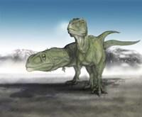Pair of Giganotosaurus Fine Art Print