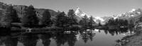 Matterhorn reflecting into Grindjisee Lake, Zermatt, Valais Canton, Switzerland Fine Art Print