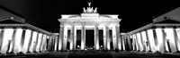 Brandenburg Gate at night, Berlin, Germany Fine Art Print