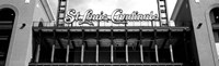 Low angle view of the Busch Stadium in St. Louis, Missouri Fine Art Print