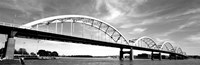 Low angle view of a bridge, Centennial Bridge, Davenport, Iowa Fine Art Print