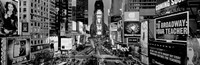 High angle view of traffic on a road, Times Square, Manhattan, NY Fine Art Print