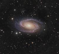 Messier 81 spiral galaxy in the Constellation Ursa Major Fine Art Print