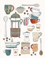 Coffee Chart II Framed Print