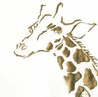 Gilded Giraffe Framed Print