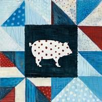 Modern Americana Farm Quilt V Framed Print