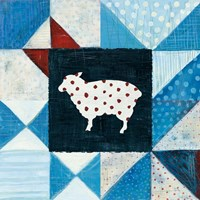 Modern Americana Farm Quilt VI Framed Print