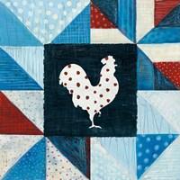 Modern Americana Farm Quilt VII Framed Print