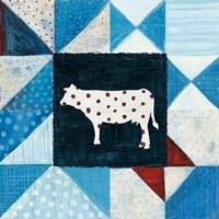 Modern Americana Farm Quilt VIII Framed Print