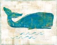 On the Waves I Framed Print