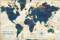 World Map Collage Fine Art Print