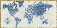 Indigo Gild Map Maki Fine Art Print