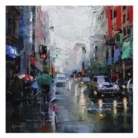 St. Catherine Street Rain Framed Print