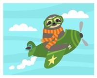 Airborne Sloth Fine Art Print