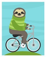 Cycling Sloth Fine Art Print