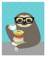 Snacking Sloth Fine Art Print