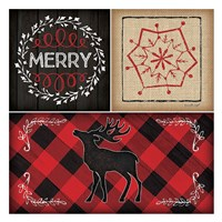 Plaid Christmas III Fine Art Print