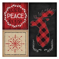 Plaid Christmas IV Fine Art Print