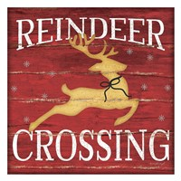 Reindeer Crossing Fine Art Print