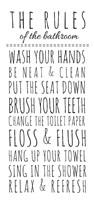 Rules of the Bathroom Fine Art Print