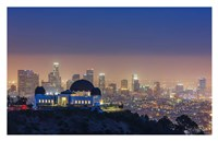 L.A. Skyline with Griffith Observatory Framed Print