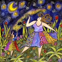 Big Diva & Fireflies Fine Art Print