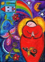 Big Diva Angel Wish Fine Art Print