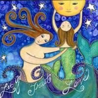 Big Diva Mermaid Mother's Love Fine Art Print