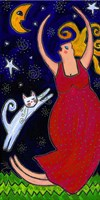Big Diva Moonlight Goddess Dancing Fine Art Print