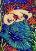 Big Diva Redhead Mermaid Fine Art Print