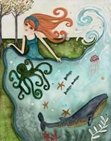 Big Eyed Girl Ocean Dreamer Fine Art Print