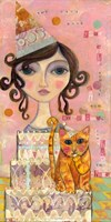Big Eyed Girl You Can't Have Your Cake & Eat It Too Fine Art Print