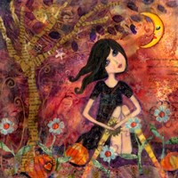 Big Eyed Tambourine Girl Fine Art Print