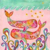 Pink Whales Fine Art Print