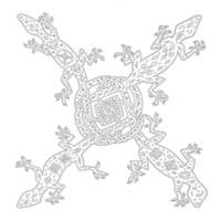 4 Celtic Lizards Fine Art Print