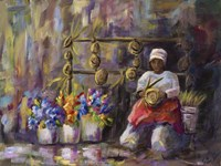 Charleston, SC Basket Lady Fine Art Print