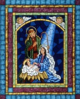 Stained Glass Nativity Fine Art Print