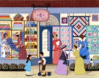 Sunbonnet Quilt Shop Fine Art Print