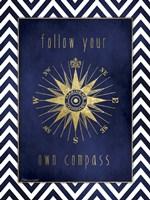 Compass In Gold Fine Art Print