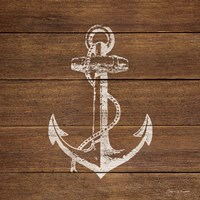 Anchor On Wood Fine Art Print