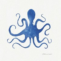 Octopus In Blue Fine Art Print