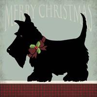 Scottie Merry Christmas Fine Art Print