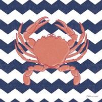 Crab Chevron Fine Art Print