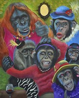 Monkey Selfies Fine Art Print